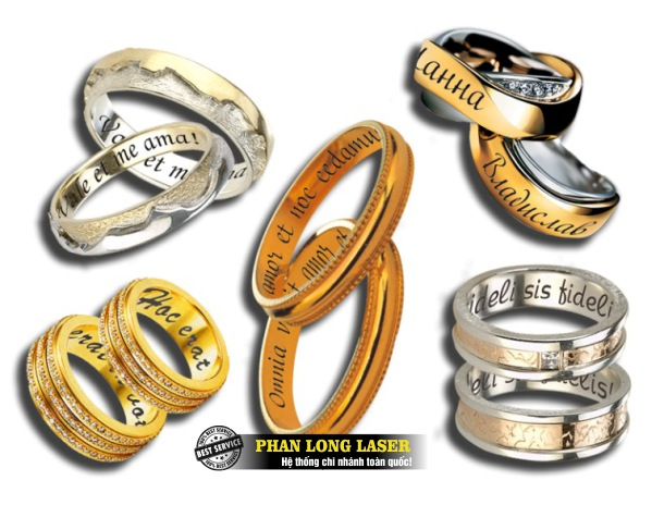 Khắc chữ khắc tên, khắc logo hoa văn lên nhẫn cưới, nhẫn vàng, nhẫn bạc tại Tp Hồ Chí Minh, Sài Gòn, Đà Nẵng, Hà Nội và Cần Thơ