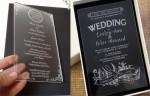 Cơ sở nhận thiết kế và làm thiệp cưới mica acrylic lấy liền giá rẻ