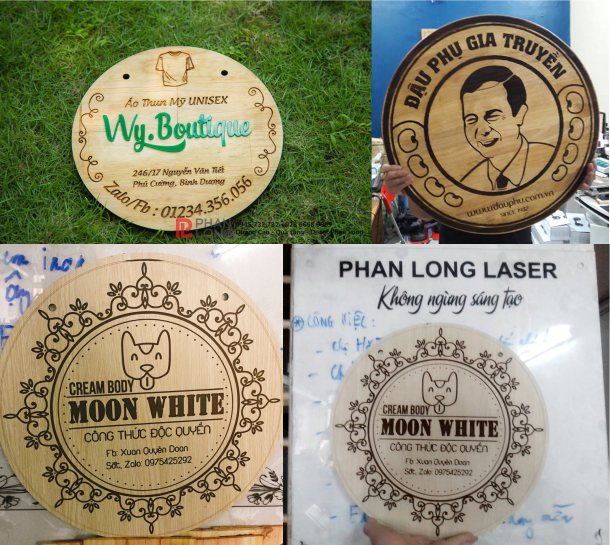 Làm biển quảng cáo gỗ cho khách hàng tại Bắc Ninh, Hà Nội, Tphcm Sài Gòn