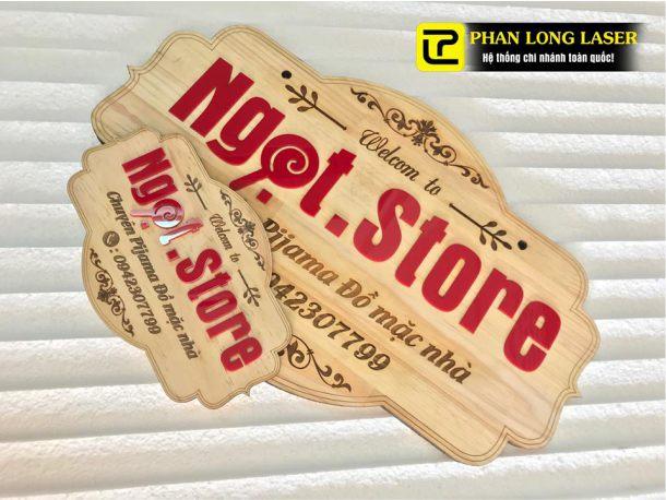 Làm biển bảng quảng cáo gỗ chop shop lấy liền giá rẻ tại Tân Bình, Tphcm