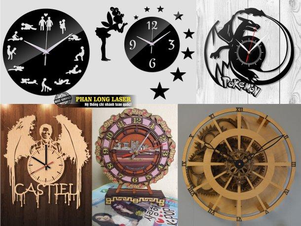 Cơ sở nhận thiết kế và làm đồng hồ bằng gỗ và đồng hồ mica theo yêu cầu lấy liền giá rẻ