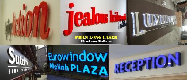Làm biển quảng cáo cắt chữ mica tại TPHCM và Hà Nội