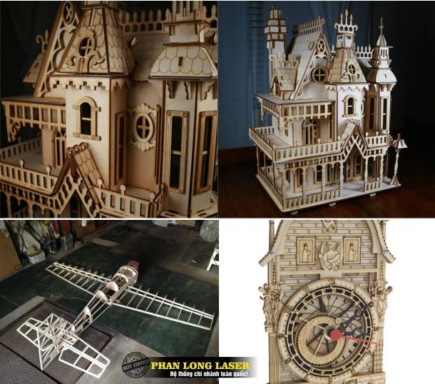 Cắt Mô hình gỗ, Cắt làm mô hình tòa nhà, máy bay, tòa tháp, tàu lửa, xe điện tại Tphcm Hà Nội Đà Nẵng