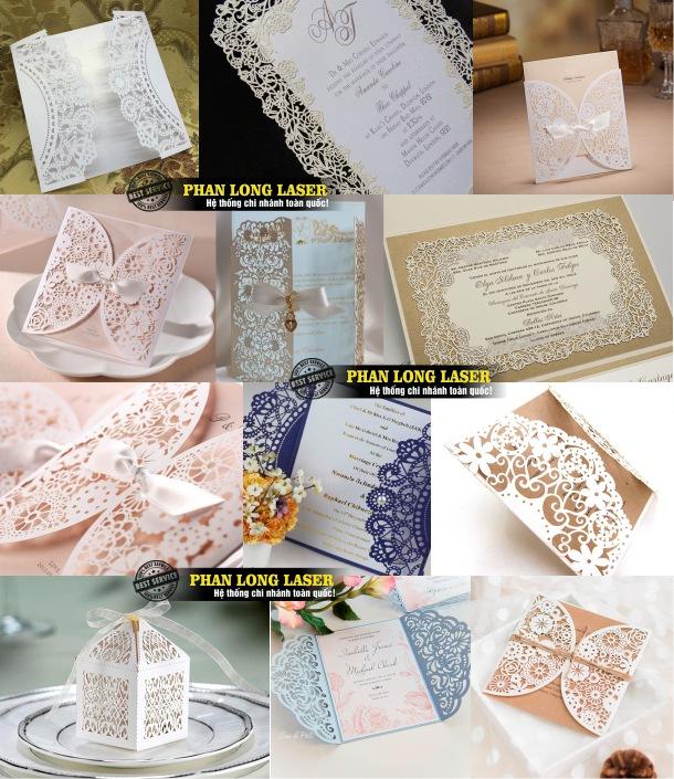 Địa chỉ Cắt Laser trên giấy làm thiệp mừng, thiệp mời, thiệp sinh nhật, thiệp noel giá rẻ
