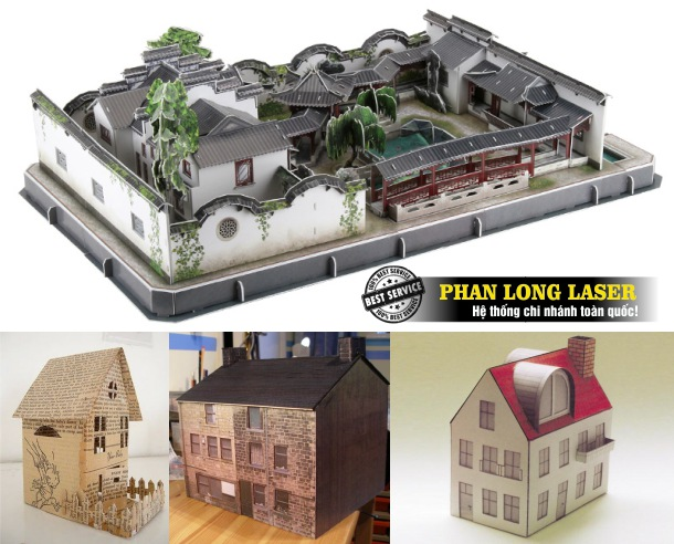 Cắt giấy bằng máy laser để làm mô hình kiến trúc, làm sa bàn giá rẻ tại Tp Hồ Chí Minh, Sài Gòn, Đà Nẵng, Hà Nội và Cần Thơ