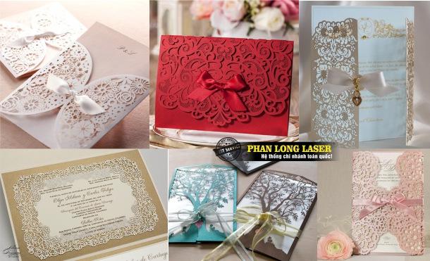 Địa chỉ Cắt giấy tạo hình làm thiệp mời thiệp cưới giá rẻ