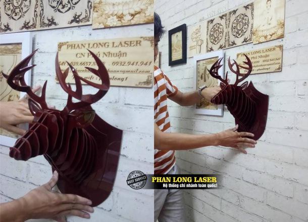 Địa chỉ chuyên nhận cắt tạo hình trang trí nội thất, trang trí nghệ thuật 3D trên các sản phẩm bằng gỗ