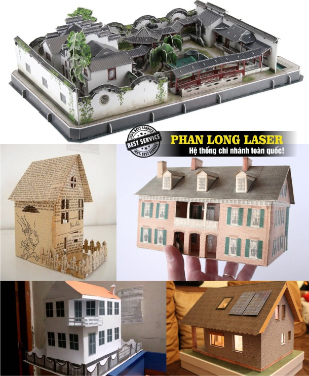 Địa chỉ chuyên nhận cắt giấy bằng máy laser để làm mô hình tòa nhà, mô hình tòa tháp, mô hình kiến trúc