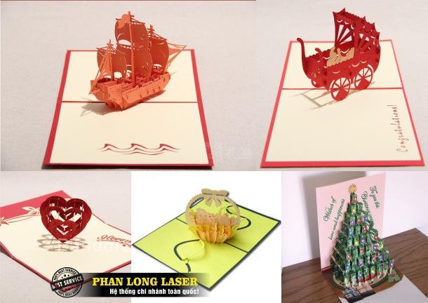 Địa chỉ cơ sở nhận cắt laser trên giấy để làm thiệp nổi 3D theo yêu cầu lấy ngay lấy liền giá rẻ