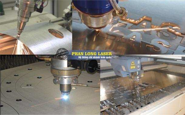 Đơn vị Phan Long Laser đang thực hiện việc cắt laser trên kim loại inox cho khách hàng