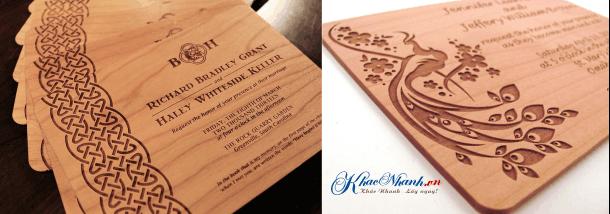 Địa chỉ cắt thiệp cưới bằng gỗ giá rẻ ở đâu?