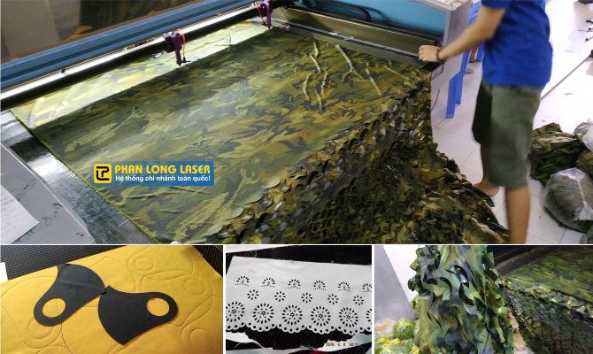 Cắt vải bằng máy laser tại xưởng Phan Long Laser chi nhánh Tp Hồ Chí Minh