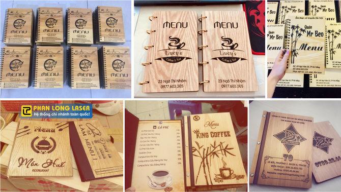 Sản xuất làm menu gỗ, menu mica acrylic, menu nhựa theo yêu cầu lấy liền giá rẻ