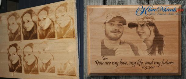 Cắt chữ gỗ bằng laser tại Tân Phú