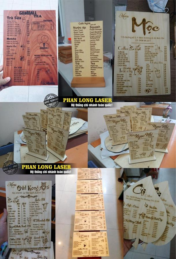 Địa chỉ cơ sở gia công theo yêu cầu các sản phẩm menu bằng gỗ, menu mica, menu nhựa, menu bìa da giá rẻ