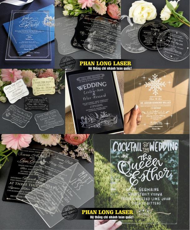 Địa chỉ nhận thiết kế và sản xuất làm thiệp cưới bằng mica tại Tp Hồ Chí Minh, Sài Gòn, Đà Nẵng, Hà Nội và Cần Thơ