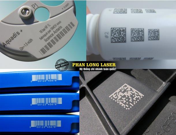 Xưởng gia công chuyên nhận in khắc lazer mã code QR trên kim loại, phi kim loại giá rẻ