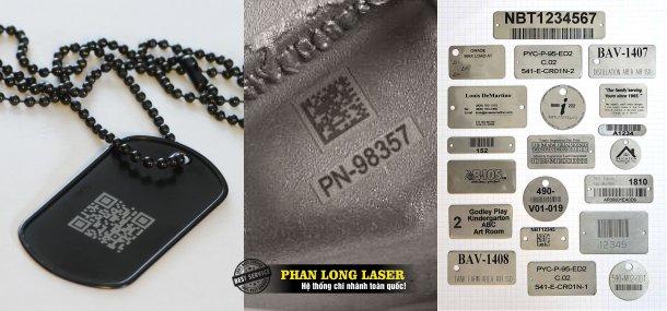 Địa chỉ nhận in khắc lazer mã code QR, mã vạch lên mọi vật liệu giá rẻ