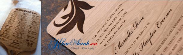 In menu bằng gỗ tại Quận 5 cho khách hàng TpHCM