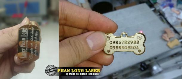 Khắc chữ khắc tên, khắc logo hoa văn lên mặt dây chuyền, mặt vòng cổ theo yêu cầu
