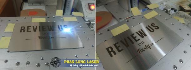 Địa chỉ khắc laser lên Kim loại inox đồng nhôm tại Tp Hồ Chí Minh, Hà Nội, Đà Nẵng và Cần Thơ