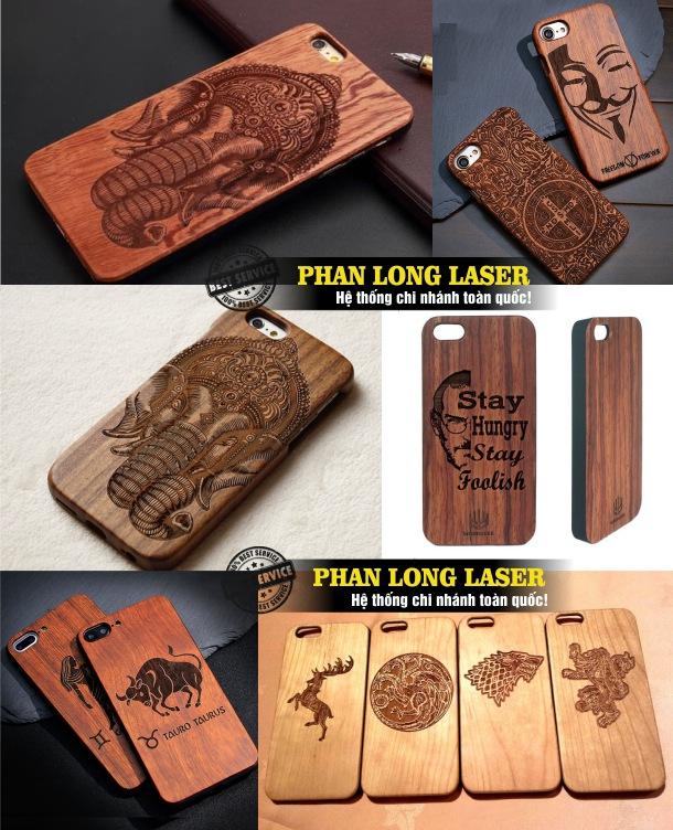 Xưởng laser khắc lên ốp lưng, khắc vỏ điện thoại bằng gỗ giá rẻ lấy liền
