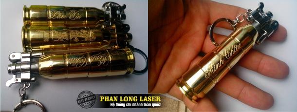 Khắc bật lửa vỏ đạn, hộp quẹt vỏ đạn bằng máy laser theo yêu cầu giá rẻ