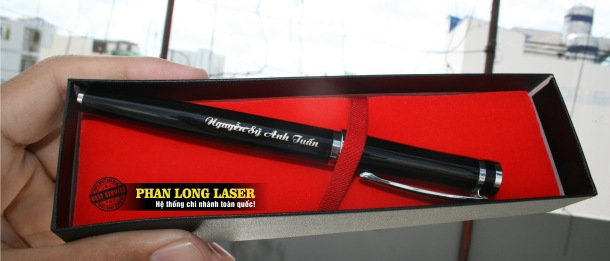 Địa chỉ Khắc laser lên bút viết máy tại Sài Gòn và Hà Nội