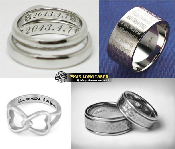 Xưởng nhận khắc laser theo yêu cầu lên nhẫn inox, khắc nhanh lấy liền giá siêu rẻ