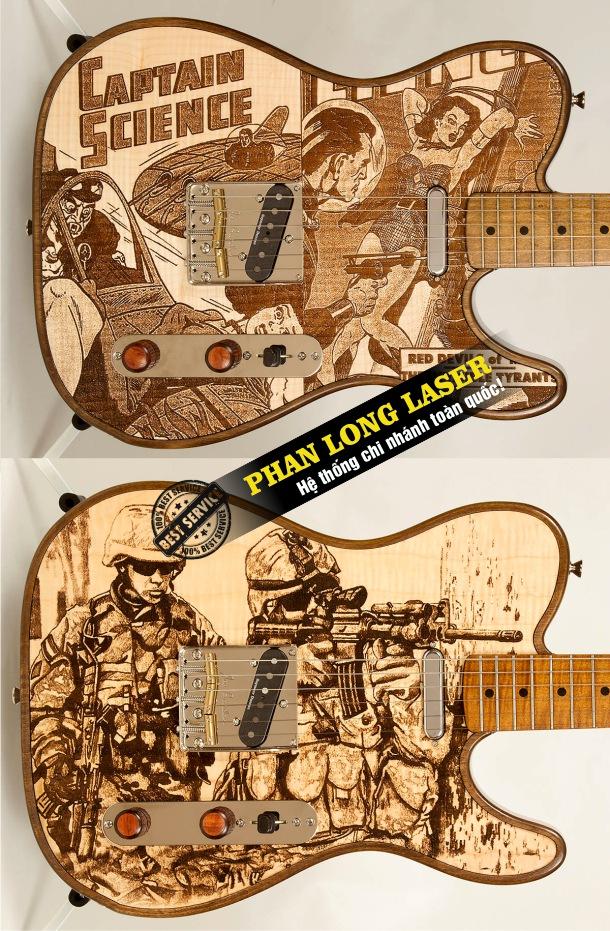 Địa chỉ nhận khắc laser theo yêu cầu lên đàn guitar lấy ngay lấy liền giá rẻ