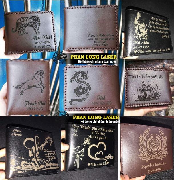 Công ty chuyên gia công ví da, bóp da và nhận khắc chữ khắc tên, khắc hình ảnh, khắc chân dung theo yêu cầu lên ví da giá rẻ