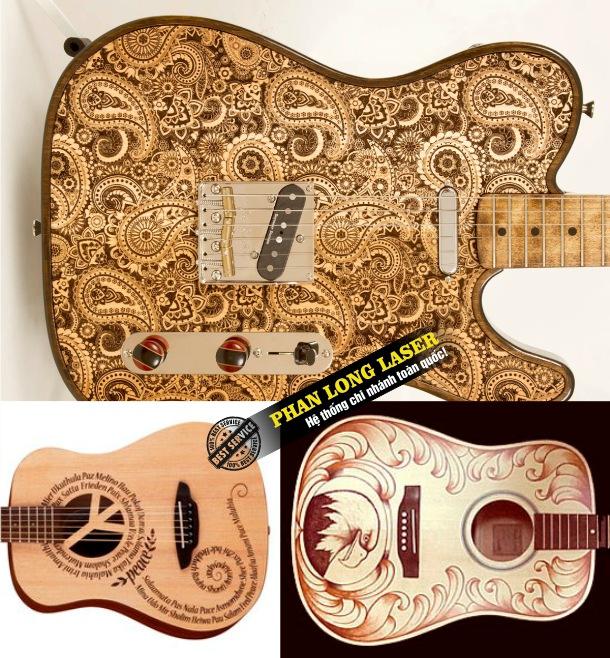 Xưởng gia công cắt khắc laser trên đàn guitar lấy ngay lấy liền giá rẻ
