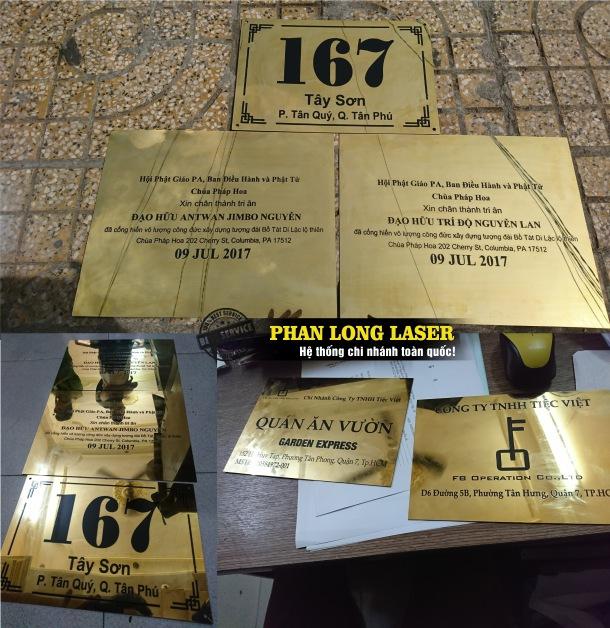 Khắc laser trên kim loại inox làm biển văn phòng biển công ty tại Tp Hồ Chí Minh, Sài Gòn, Đà Nẵng, Hà Nội và Cần Thơ