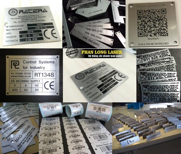 Khắc laser lên Tem Nhãn Mác bằng Inox theo yêu cầu tại Tp Hồ Chí Minh, Hà Nội Đà Nẵng, Cần Thơ