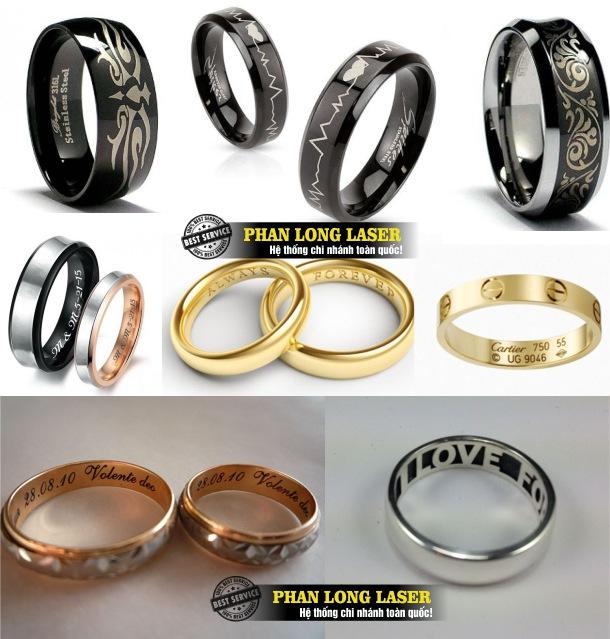 Địa chỉ nhận khắc nhẫn vàng, nhẫn bạc, nhẫn inox, nhẫn cưới làm quà tặng lưu niệm giá rẻ