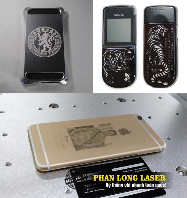 Địa chỉ nhận khắc chữ khắc tên, khắc logo hoa văn, khắc hình ảnh chân dung lên vỏ điện thoại kim loại