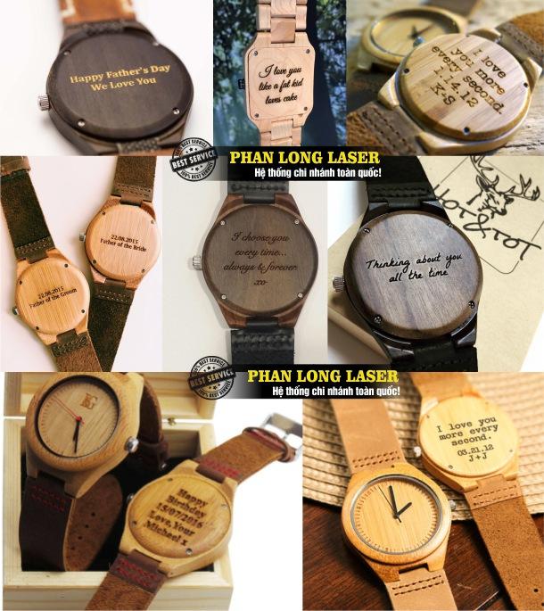 Địa chỉ nhận khắc laser theo yêu cầu lên đồng hồ đeo tay, đồng hồ treo tường, đồng hồ đứng giá rẻ