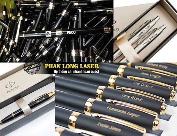 Xưởng nhận khắc laser theo yêu cầu lên bút viết tại Cần Thơ