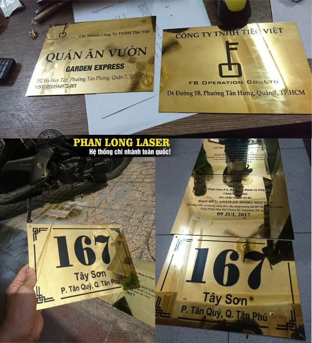 Địa chỉ nhận khắc laser theo yêu cầu lên biển hiệu công ty, biển hiệu văn phòng tại Gò Vấp, Tân Phú, Bình Thạnh, Thủ Đức, Phú Nhuận, Quận 10
