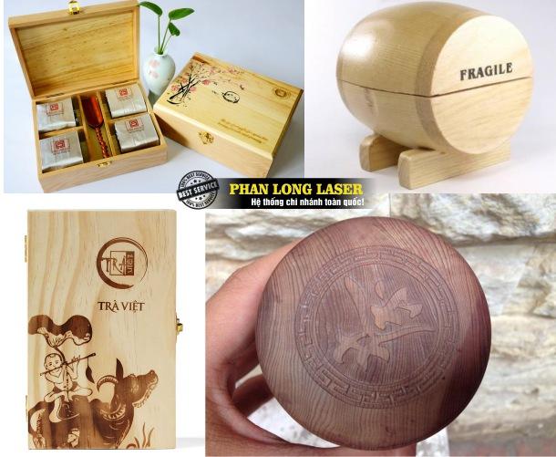 Cơ sở nhận khắc laser theo yêu cầu lên hộp đựng trà, hộp gỗ đựng tăm