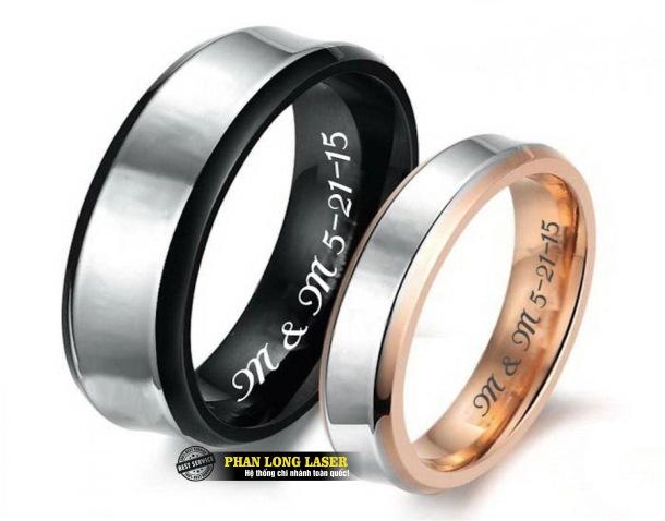 Xưởng gia công khắc laser lên nhẫn đôi nhẫn cặp giá rẻ trên toàn quốc