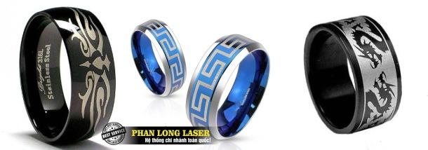 Cơ sở chuyên nhận khắc laser lên nhẫn cưới, nhẫn vàng, nhẫn bạc, nhẫn inox, nhẫn quà tặng giá rẻ