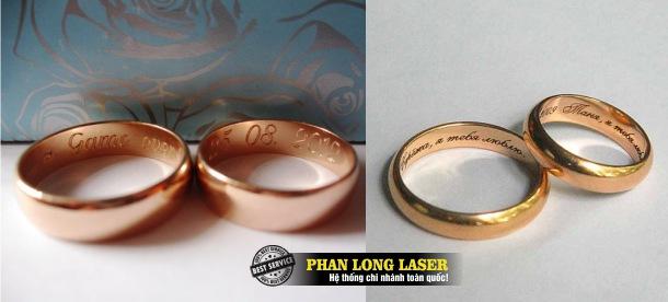 Cơ sở chuyên nhận gia công khắc chữ khắc tên, khắc logo hoa văn theo yêu cầu lên nhẫn cưới giá rẻ tại Tphcm Sài Gòn, Hà Nội, Đà Nẵng, Cần Thơ