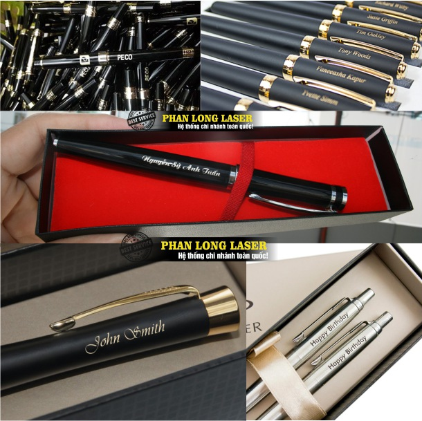 Địa điểm khắc laser lên bút máy, bút bi, bút quảng cáo, bút quà tặng ở Hà Nội