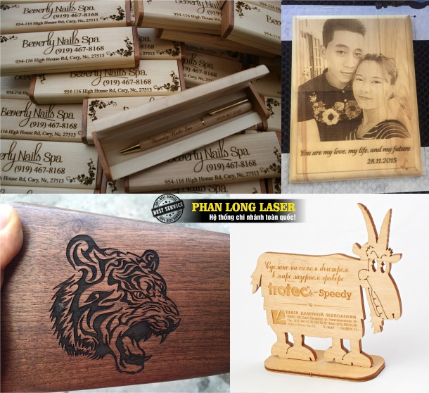 Khắc laser theo yêu cầu, khắc chữ khắc tên, khắc hình ảnh, khắc thông số kỹ thuật lên quà tặng gỗ