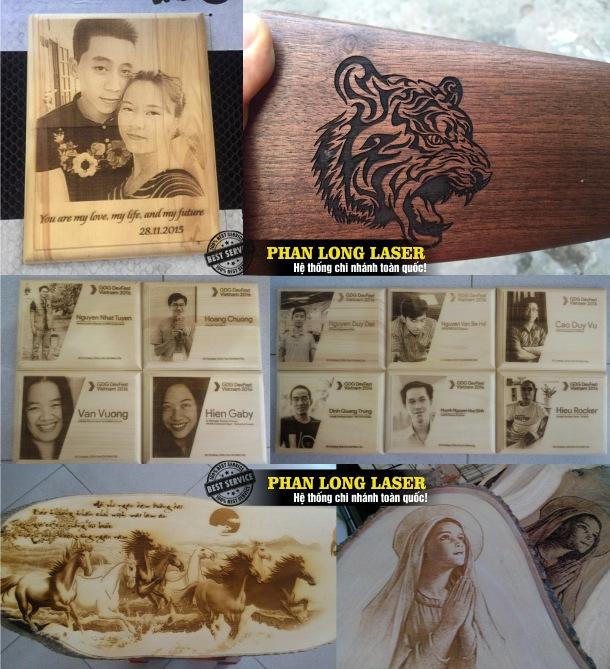 Công ty chuyên nhận khắc laser, gia công laser trên tranh ảnh gỗ tại Gò Vấp, Sài Gòn