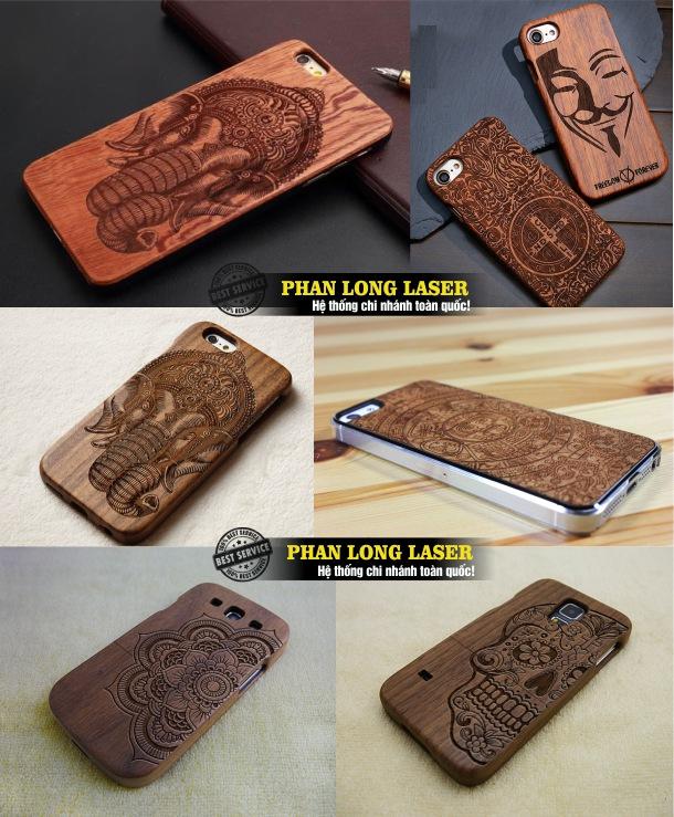Địa chỉ cơ sở nhận khắc laser theo yêu cầu lên vỏ, ốp lưng, bao da, viền điện thoại giá rẻ