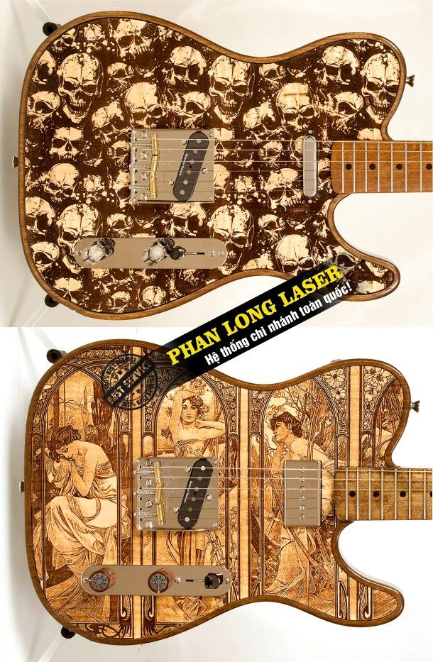 Địa chỉ nhận điêu khắc nghệ thuật lên đàn guitar theo yêu cầu giá rẻ