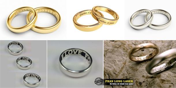 Địa chỉ Khắc Nhẫn Vàng, Khắc Nhẫn Bạc, Khắc nhẫn cưới bằng laser tại Tphcm, Hà Nội, Đà Nẵng