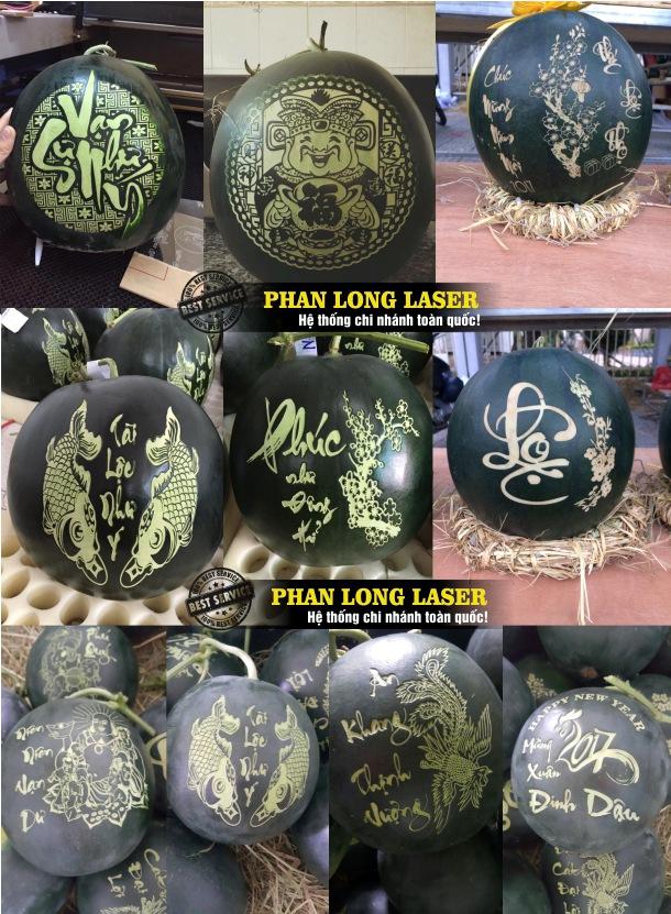 Cơ sở nhận gia công khắc laser theo yêu cầu lên trái cây hoa quả tại Quận Tân Phú